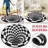 3D Printed Vortex Illusion Living Room Rug Carpet Floor Door Round Mat Anti Slip