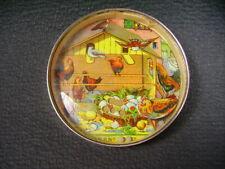 """vintage dexterity puzzle game hand held lardge  """"Jeu d'adresse ancien """" poules"""