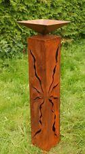 Säule Rose mit Schale Metall G68533 Gartendeko Schalenständer Pflanzschale