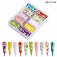 AkakaUS - Daisy Flower Nail Foil Transfer Sticker Tips Wraps Foil DIY Decoration