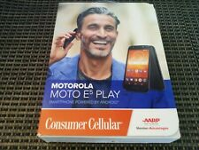 Motorola E5 Play Consumer Cellular Phone Brand NEW, Sealed (16GB) - Black