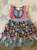 NWT Matilda Jane 3-6 M Once Upon A Time Baby Bear Hooded Keepsake Dress Bloomers