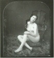 """Female nude, mounted repro photo print, daguerrotype  10 x 8"""" 1852  NP03"""