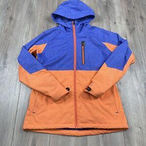Burton Berkley Rain Jacket Orange/Blue Women's Size M Medium