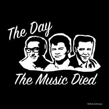 Holly Valens Big Bopper The Day the Music Died White Oracal Decal