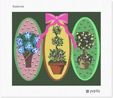 Topiary Sampler Needlepoint Canvas (Floral/Flower/Nature)