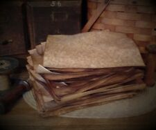 Primitive Aged~Stained~Antique~Stationary~Tags~Cardstock~Full Sheets~