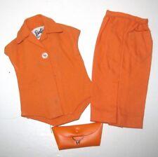 Barbie Doll ~1961 Orange Fashion Pak ~ Body Suit ~ Skirt ~ Matching Clutch Bag