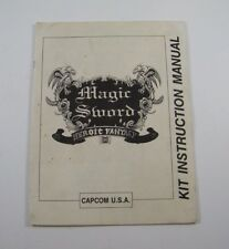 CAPCOM U.S.A. MAGIC SWORD HEROIC FANTASY M KIT INSTRUCTION MANUAL