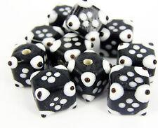 10 x Lampe de Travail Verre Noir Blanc Fabrication de Bijoux Artisanat Perles Cube G13