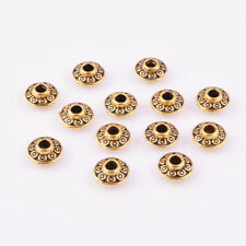 Metal Charm Jewelry Diy Finding 6mm 50pcs Brass Dish Loose Spacer Beads Gold