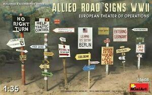 Miniart 1:35 WWII Allied Road Signs European Theatre Model Kit