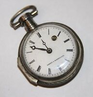 VERGE POCKET WATCH COMBES A MONTPELLIER. SILVER. FRANCE. END 18th CENTURY