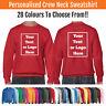 Custom Printed Sweat Shirt Crew Neck Round Neck Personalised Sweatshirt Gildan