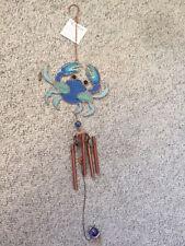 Nwt Carson Blue Crab Wind Chime Metal
