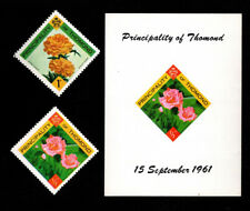 Ireland, Thomond, 1961, MNH, S/S & 2 stamps, Roses, flowers, flora, plants, AR6