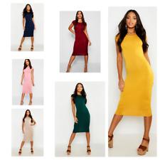 Ladies Cap Sleeve Midi Dress Womens Bodycon Summer Maxi Midi Dress Plus Size