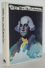 1976 PETER MAX PAINTS AMERICA Colorful Artwork 50 States + Presentation Letter