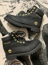 "Timberland X Champion 6"" Shearling Boot, Mens Size 6 ,Black USED NO BOX"