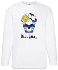 Uruguay Football Comet Herren Langarm T-Shirt uruguayisch Flagge Fahne Fußball
