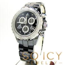 1.35t Techno by JPM Mens Diamond Black Ceramic Watch Joe Rodeo Aqua Master
