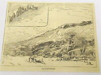 1885 magazine engraving ~ LACATECOURAH ~ Sudan, African Tribe