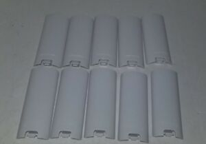 10 NEW Wholesale LOT  White Battery Door Cover Lid for Nintendo Wii Remote