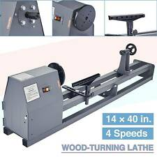 """Electric Wood Lathe 14"""" x 40"""" 350W Variable Speed Stationary Benchtop Wood Lathe"""