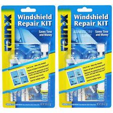 2 x Rain X Windshield Repair Kit Crack DIY Auto Glass Wind Screen Chips & Cracks