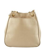 Bottega Veneta Vintage Beige Leather Shoulder Bag