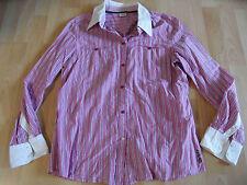 ESPRIT schöne rosa gestreifte Bluse m. weißem Kragen Gr. 40 TOP kMü1015