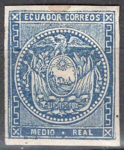 ECUADOR 1865/72 STAMP Sc. # 2 MH