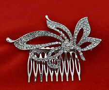 Large Hair Comb Wedding Bridal Prom Stunning With Rhinestones  New UK