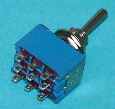Miniature 3PDT Toggle Switch ON-ON pack of 3  # M302-3