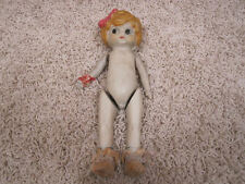 Vintage Antique Made in Japan Ceramic Bisque Girl Doll with Movable Arms & Legs