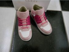 NIB 100% AUTH Gucci Kids Leather High Top Sneakers 340872