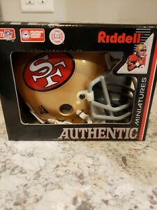 Riddell NFL San Francisco  49ers Throwback Authentic (64-95) Gray-Face-mask Mini