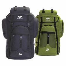 Extra Large XXL 80L Travel Hiking Camping Festival Luggage Rucksack Backpack Bag