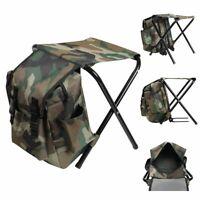 Portable Multi-function Backpack Folding Chair Bag Camping Fishing Stool 220LB
