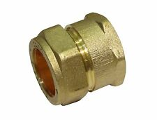 22mm Compression x 3/4 Inch BSP Female Adaptor / Coupler   Brass Fitting