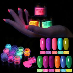 BORN PRETTY 10ml Fluorescence Dipping Nail Powder Summer Series Nail Art Decors