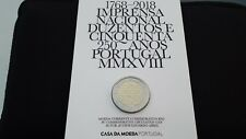 Coin card BU 2 euro 2018 Portogallo Portugal Imprensa Nacional 1768 Португалия