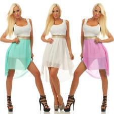 4370 Damen Minikleid Kleid Vokuhila Chiffon Party Cocktailkleid Elegant Dress