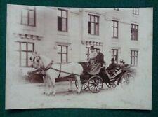 Antique Victorian Albumen Photo Queen Victoria John Brown in Royal Carriage