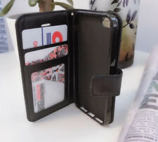 Black Wallet Flip Card Leather Case for Apple iPhone 5 5G 5S+Screen Protector AU
