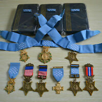 US Order WW12 ARMY NAVY AIR FORCE OF MEDAL OF HONOR FULL SET, 10 Medals SCARCE