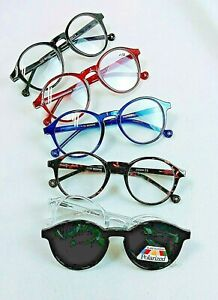 Lesebrille mit Polarized Magnet Clip-on Lesehilfe Sonnenbrille Pol Überbrille