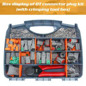 439PC Deutsch DT Wire Connector Plug Kit With Crimp Tool Automotive #DT-KIT3-TR