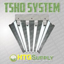 NEW T5 HO 4'/4-LAMP FLUORESCENT GROW LIGHT SYSTEM W/ 6500K VEG BULBS, 4-FOOT FT.