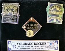 Colorado Rockies Inaugural Season 1993 Commemorative Numbered, 3 Pin Set
